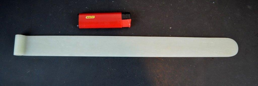 Large 19th C Chinese White Jade Manchu Hair Pin