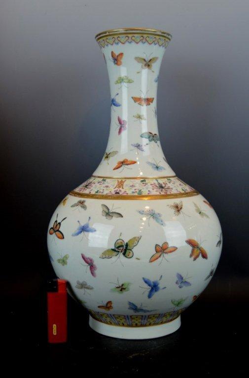 Good Chinese Guanxu Mark Butterfly Vase
