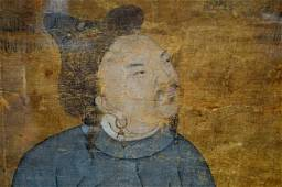 Yuan or Ming Dynasty Chinese silk Ink & Color Painting