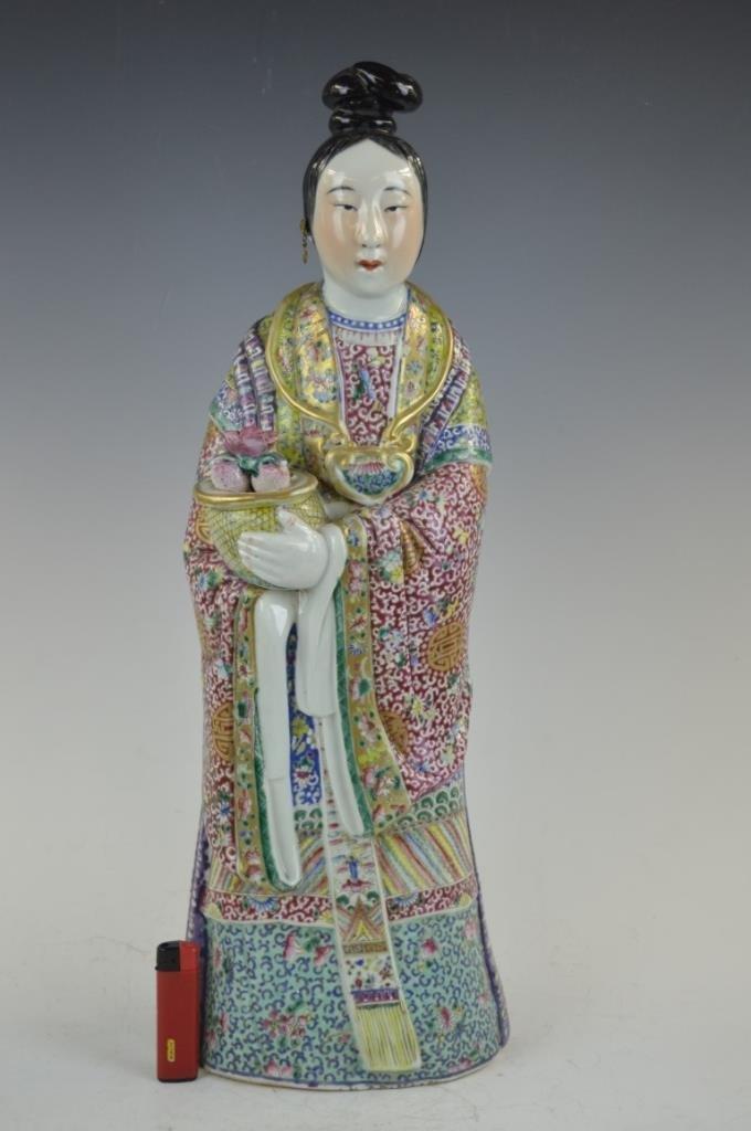 Chinese Republic Large Enameled Porcelain Magu