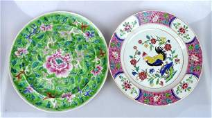 Two 19th C Chinese porcelain Enameled plates