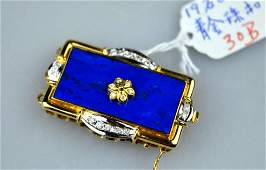 Rich Chinese Lapis Lazuli, Diamond & 14K Closure