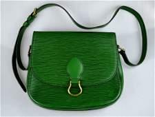 Louis Vuitton Vintage Green Leather Handbag