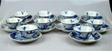 Vung Tao Cargo 10 Teacup Sets Chinese Porcelain