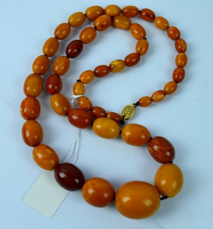 87 Grams Old Butterscotch Amber Graduated Beads
