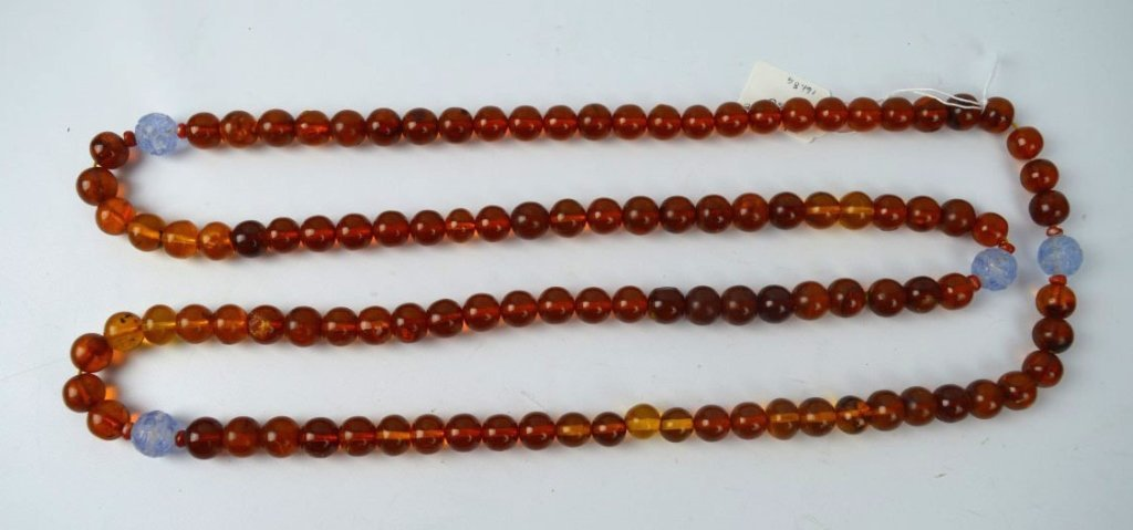 Chinese Old Amber 108 Bead Rosary