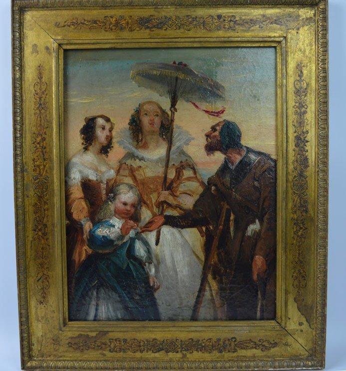 """""""Charitas"""" 18th/19th C European Oil Sketch"""