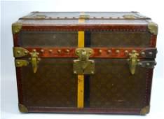 Rare Stenciled Louis Vuitton Split-Top Shoe Trunk