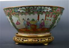 ChineseRose Medallion Punch Bowl  Stand