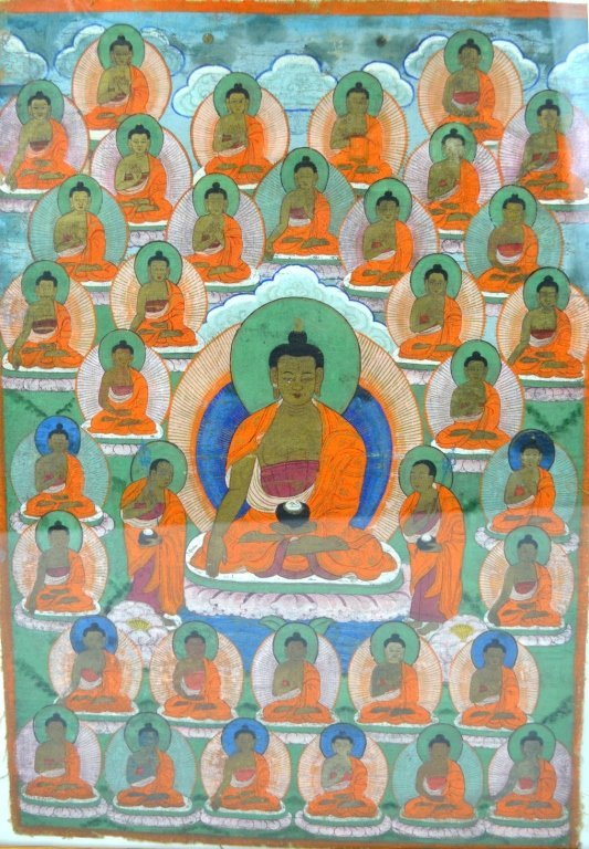 18/19 C Tibet Thanka, The 35 Confession Buddhas