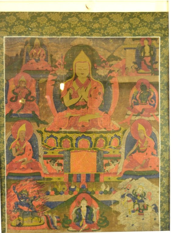 18th C Tibet Thanka of Tsongkhapa