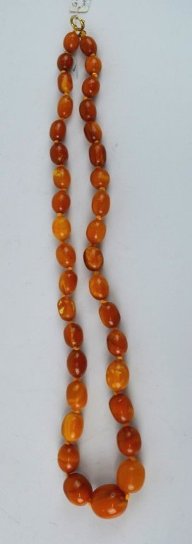 71 Grams of Butterscotch Amber Graduated Beads