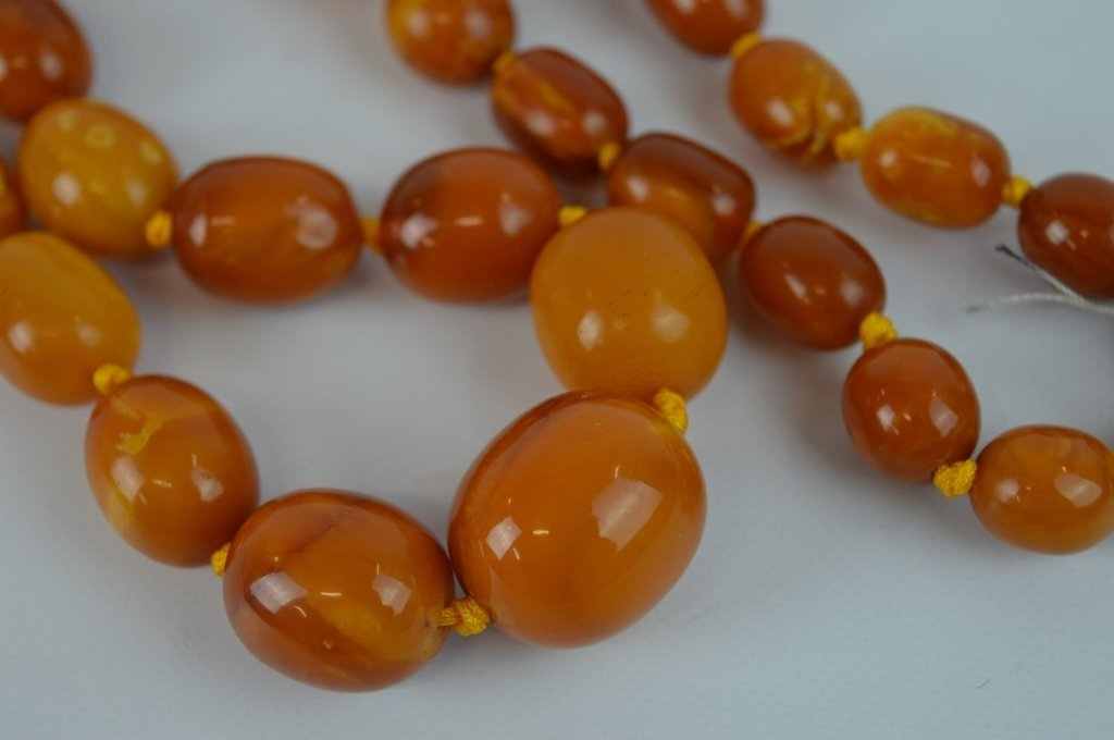 71 Grams of Butterscotch Amber Graduated Beads - 2
