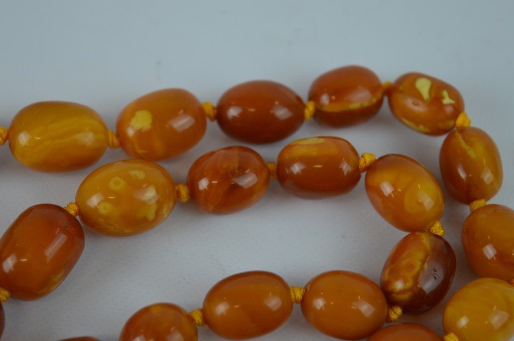 71 Grams of Butterscotch Amber Graduated Beads - 3