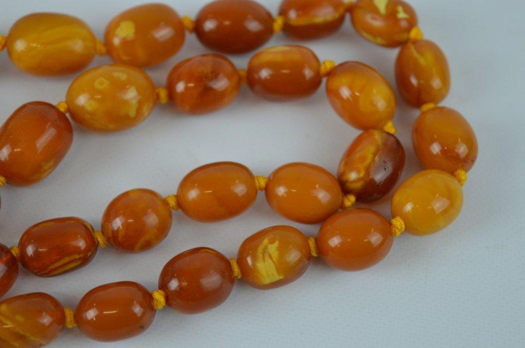 71 Grams of Butterscotch Amber Graduated Beads - 4