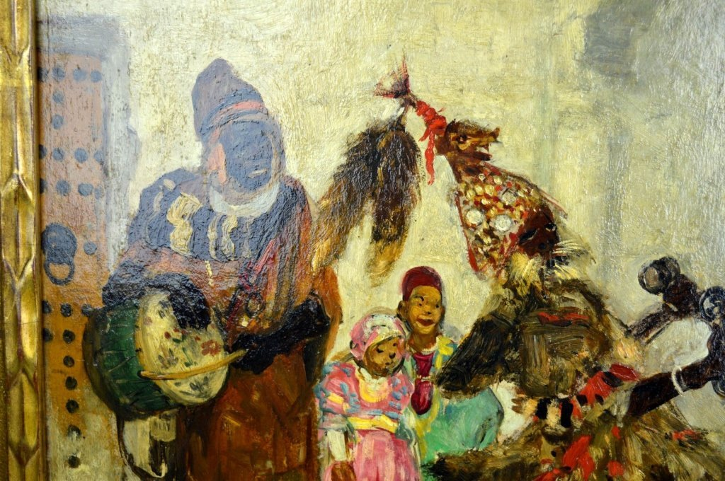 Pierre Gourdault; Oil, Musiciens Arabes 1913 - 3