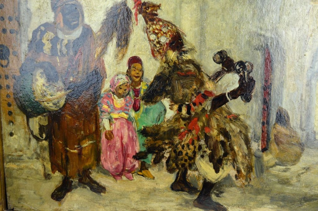 Pierre Gourdault; Oil, Musiciens Arabes 1913 - 4