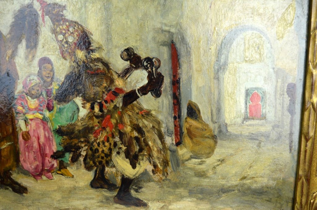 Pierre Gourdault; Oil, Musiciens Arabes 1913 - 5