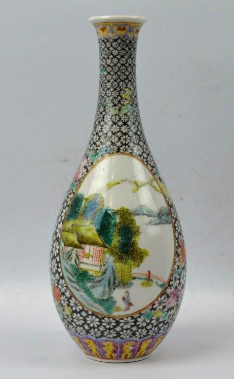 Early 20th C Chinese Enameled Porcelain Vase