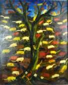 """Hatian Oil; """"Cat Tree"""" ex coll: Carl van Vechten"""