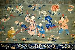 Fine Long 18th C Chinese Silk Embroidery