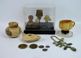 Group Of Antiques From Greece, Crete And Egypt