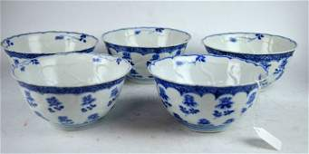 Vung Tao Cargo  5 Chinese Porcelain Molded Bowls
