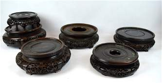 6 - Antique Chinese Hardwood Round Large Stands