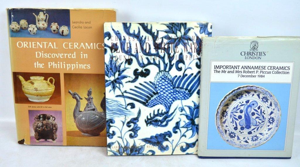 3 Books Chinese Cermics & Annamese; Philippines