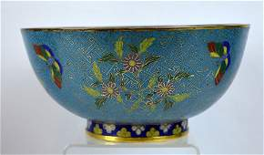 18th C Chinese Gilt Bronze Cloisonne Bowl