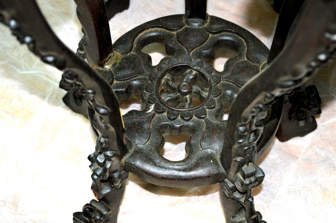 4 - Carved Multiple-Leg Chinese Hardwood Tables - 8