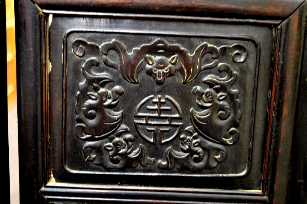 Rare 8 Panel Chinese Reverse Glass Painted Screen - 6