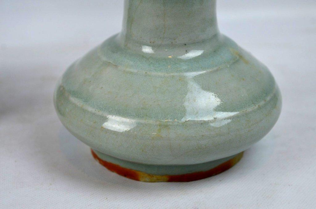 2 - Antique Chinese Celadon Porcelain Vases - 2