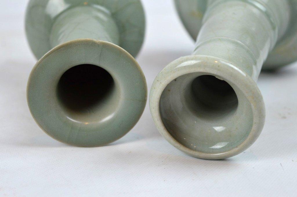 2 - Antique Chinese Celadon Porcelain Vases - 7