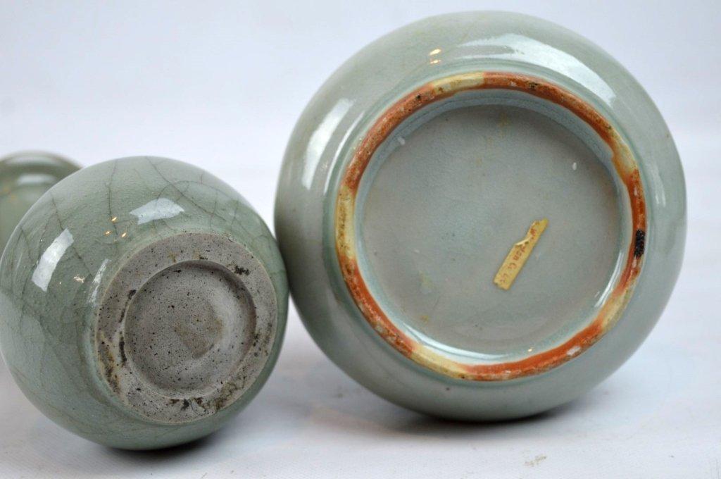 2 - Antique Chinese Celadon Porcelain Vases - 8
