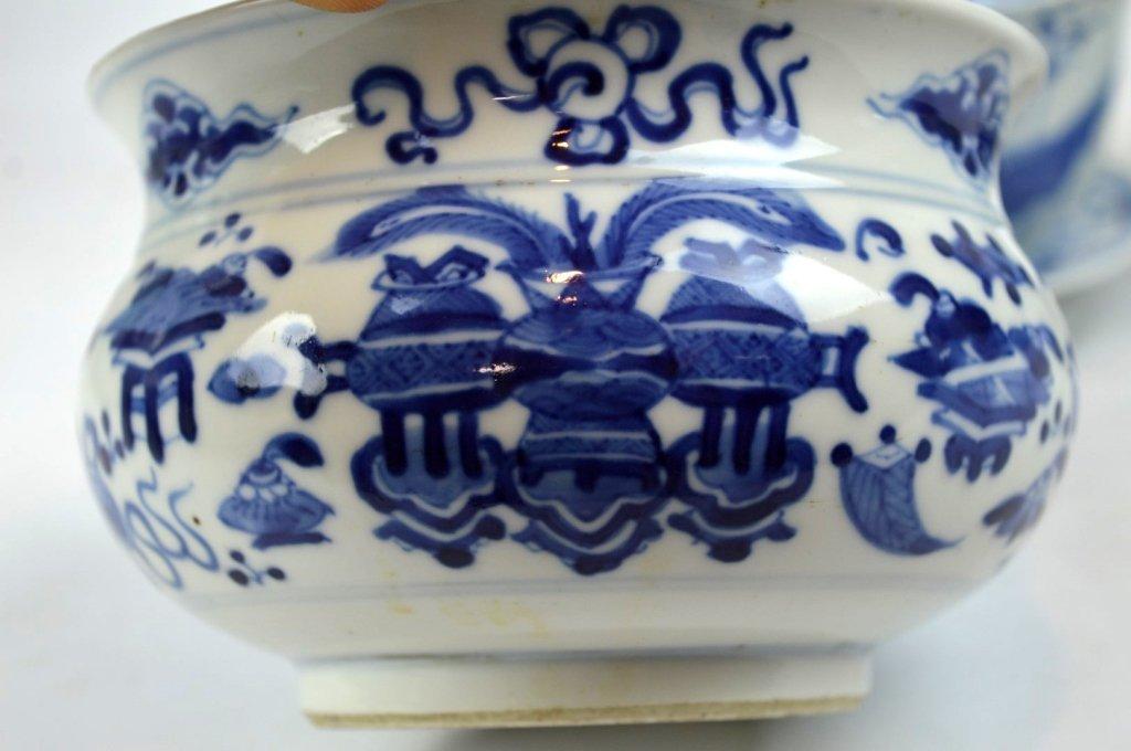 3 - 19th C Chinese Underglaze Blue Porcelains - 2