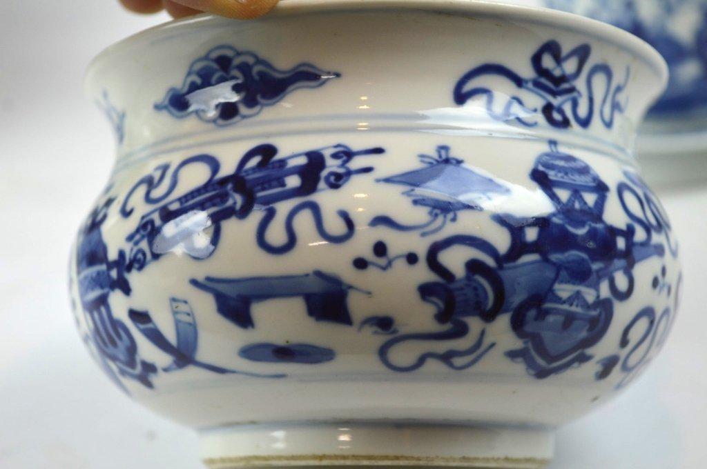 3 - 19th C Chinese Underglaze Blue Porcelains - 3