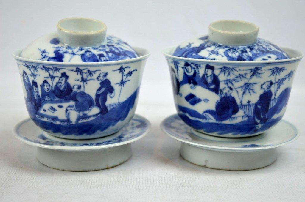 3 - 19th C Chinese Underglaze Blue Porcelains - 4