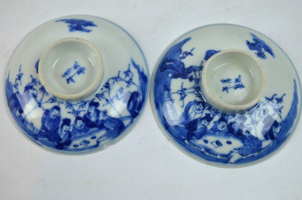 3 - 19th C Chinese Underglaze Blue Porcelains - 5