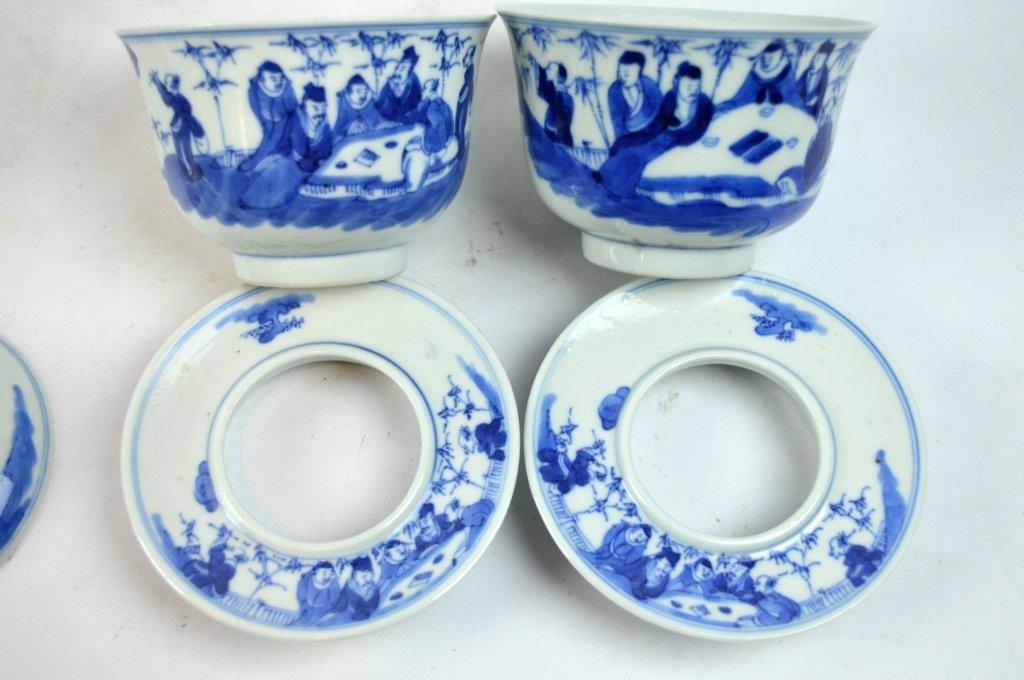 3 - 19th C Chinese Underglaze Blue Porcelains - 6