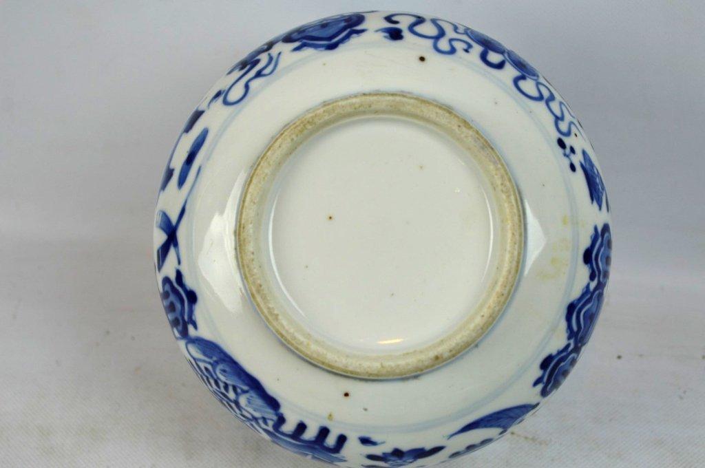 3 - 19th C Chinese Underglaze Blue Porcelains - 9