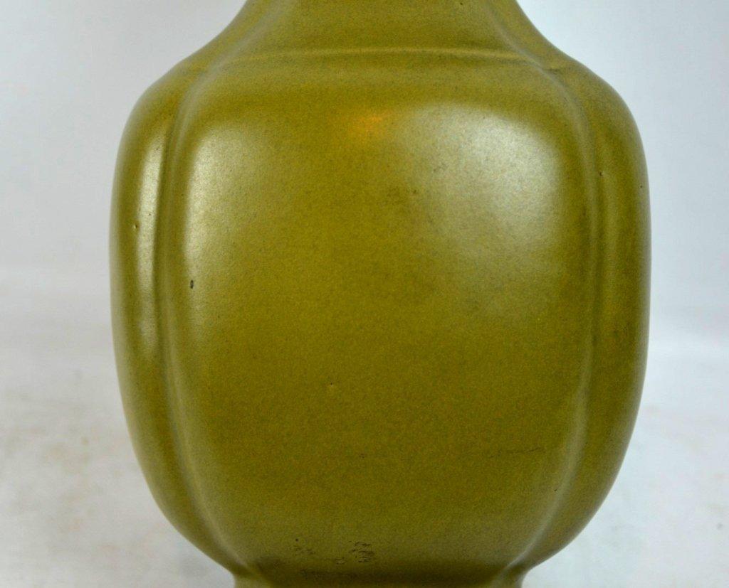 """19thC Chinese """"Teadust"""" Glazed Double Handled Vase - 3"""