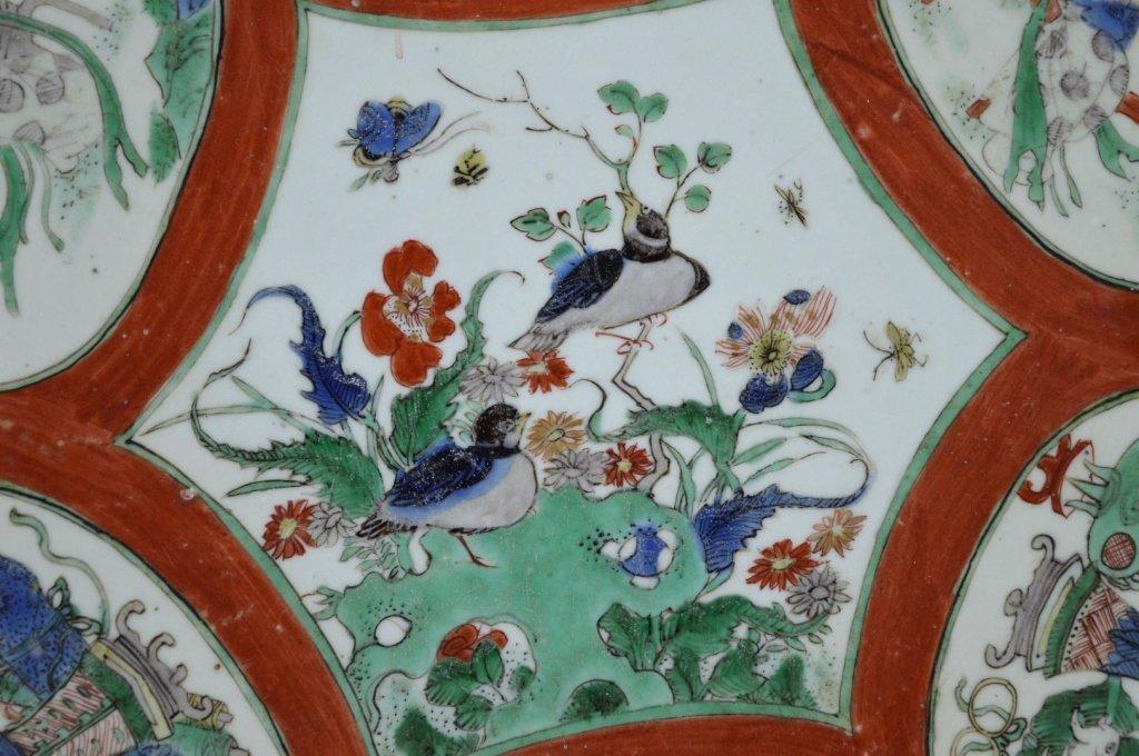 Large Chinese Kangxi Enameled Porcelain Charger - 2