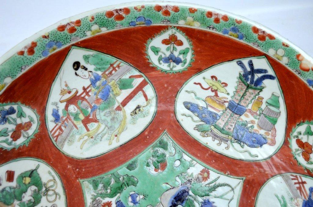 Large Chinese Kangxi Enameled Porcelain Charger - 4