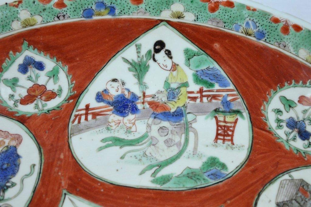 Large Chinese Kangxi Enameled Porcelain Charger - 5