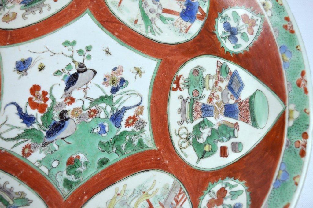 Large Chinese Kangxi Enameled Porcelain Charger - 6