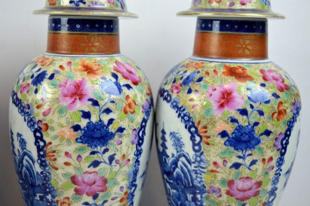 19thC Chinese Export 5-Piece Porcelain Garniture - 5
