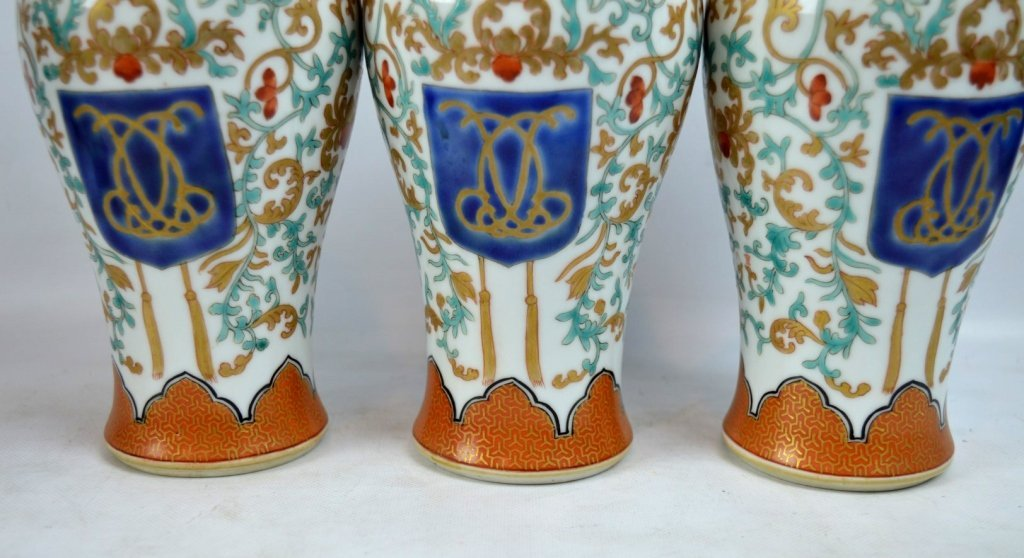 19th C Chinese Export 5-Piece Porcelain Garniture - 3