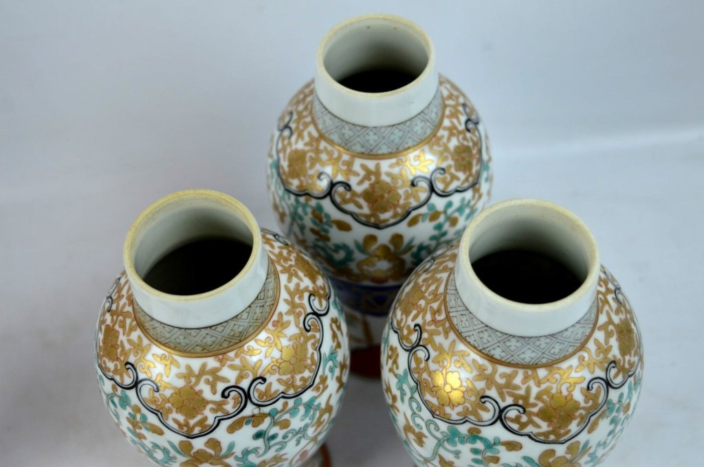 19th C Chinese Export 5-Piece Porcelain Garniture - 5