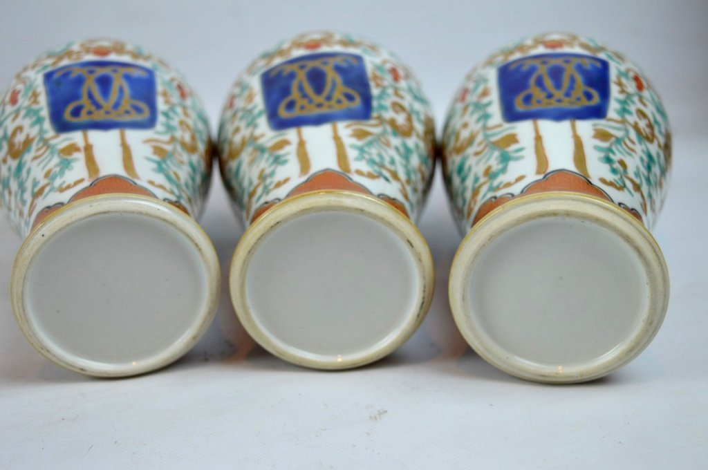 19th C Chinese Export 5-Piece Porcelain Garniture - 7